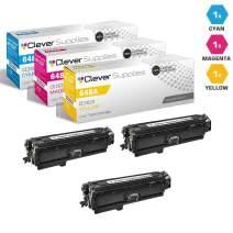 CS Compatible Toner Cartridge Replacement for HP CP4525dn CE261A Cyan CE262A Yellow CE263A Magenta HP 648A Color Laserjet CP4000 CP4500 CP4025dn Enterprise CP4525xh CP4025n 3 Color Set
