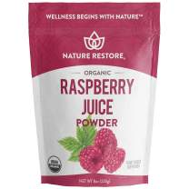 USA Grown Organic Red Raspberry Juice Powder, 8 Ounces, Non GMO, Gluten Free, Vegan
