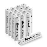 BONAI 1100mAh AAA Rechargeable Batteries 1.2V Ni-MH High-Capacity Batteries AAA 16 Pack - AAA for Garden Lights