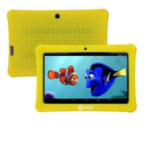 """[Upgraded] Contixo K1 HD 7"""" 6.0 Android Tablet for Kids, Bluetooth WiFi Dual Camera Parental Controls for Children with Durable Protection Case, Pre-Installed Learning Games & Education Apps-Yellow"""