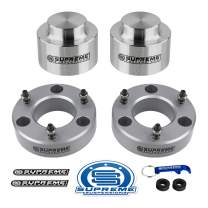 """Supreme Suspensions - Full Lift Kit for 2007-2020 Avalanche Suburban Tahoe Yukon 1500 3"""" Front Lift Strut Spacers + 1.5"""" Rear Lift Spring Spacers (Silver)"""