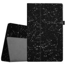 Fintie Folio Case for All-New Amazon Fire HD 10 Tablet (Compatible with 7th and 9th Generations, 2017 and 2019 Releases) - Premium PU Leather Slim Fit Stand Cover with Auto Wake/Sleep, Constellation