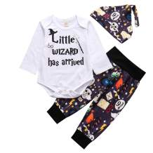 MOLYHUA Toddler Girl's Boys Clothes, 3Pcs Infant Kids Romper Shorts Headband Outfits Set