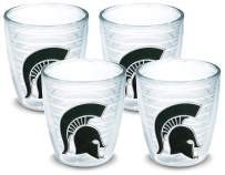 Tervis 1043004 Michigan State Spartans Helmet Tumbler with Emblem 4 Pack 12oz, Clear