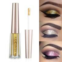 GL-Turelifes Diamond Glitter Liquid Eyeshadow & Eyeliner Pen Starry Sequins Mermaid Eye Shadow Long Lasting Shiny and Pigmented Waterproof Sparkling &Shimmer Eyes Makeup(#2 Dark Good)