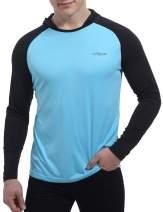 Men's UPF 50+ UV Sun Protection Hoodie Long Sleeve Rash Guard Hiking Fishing Swim Shirts