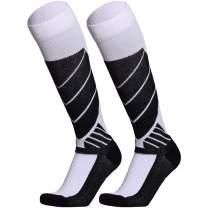 WEIERYA Ski Socks Warm Cotton Sports Outdoor Socks for Winter Skiing Snowboarding Skating Hiking, 2 Pairs