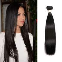Beauhair 1 Bundle 24 Inch Brazilian Straight Human Hair Bundles Unprocessed Virgin Bundles 8A Grade Human Hair Extensions Natural Color