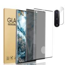 """[2 Pack+1] Galaxy Note 10 Privacy/HD Tempered Glass Protector Contain Camera Lens Protector [9H Hardness] [Scratch Resistant] [3D Touch] [Full Coverage] For Galaxy Note 10 (6.3"""")"""