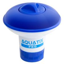 """Aquatix Pro Pool Bromine Dispenser Offers Premium Floating Chlorine Dispenser for Indoor & Outdoor Swimming Pools, Up to 1"""" Bromine Tablet Holder, Also Usable as a Spa Dispenser (Small)"""