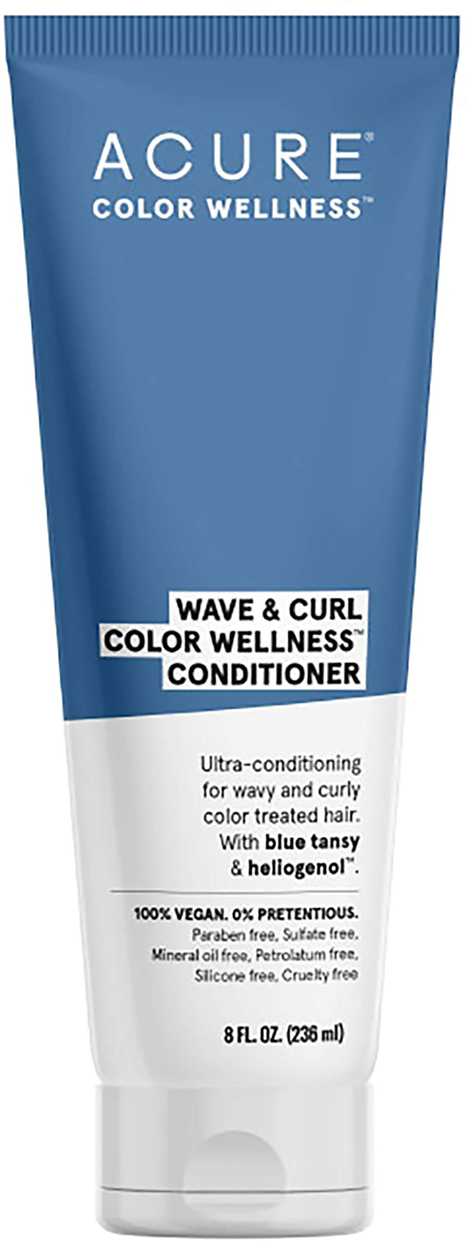 ACURE Wave & Curl Color Wellness Conditioner| 100% Vegan | Performance Driven Hair Care | Blue Tansy & Sunflower Seed Extract - Ultra-Conditioning For Wavy & Curly Color Treated Hair | 8 Fl Oz