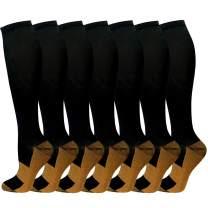 Compression Socks for Women & Men 15-25 mmHg is Best Graduated Athletic,Running,Flight,Travel,Nurses