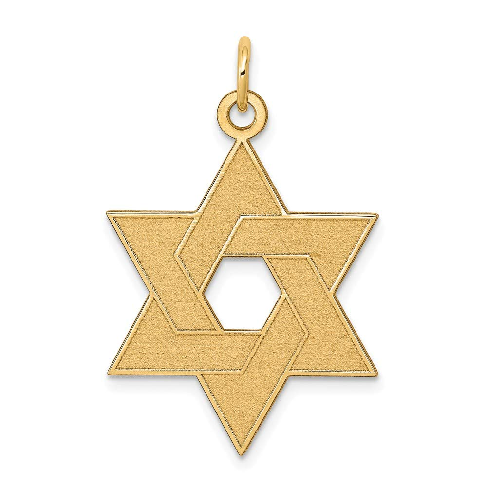 14k Yellow Gold Laser Designed Jewish Jewelry Star Of David Pendant Charm Necklace Religious Judaica Fine Jewelry For Women Gifts For Her