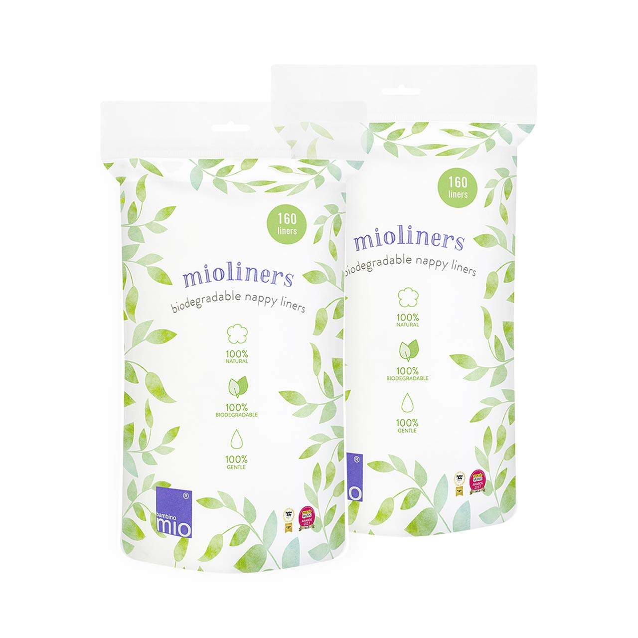 Bambino Mio, Mioliners (Biodegradable Diaper Liners), 2 Pack