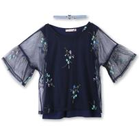 Speechless Girls' Big Embroidered Chiffon Top with Layering Tank