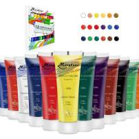 MIRATUSO Acrylic Paints Set (18colors, 1.2oz/37ml) Rich Pigments, Non Fading Paint for Canvas Painting, Non Toxic Acrylic Paints for Artist, Hobby Painters, Students.