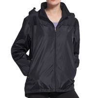 BELE ROY Women Rain Jackets Lightweight Waterproof Raincoat with Hooded Breathable Lining for Active Cycling Travel
