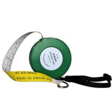 WIN TAPE Cm and Inches to 100ths Executive Diameter Pi Engineer's Tape Measure (Green)
