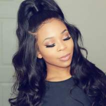 Lace Front Wigs Body Wave Wig Unprocessed Virgin Hair Wigs 130 Density Pre Plucekd With Baby Hair Free Part Bleach Knot Glueless Wig Medium Cap Wet And Wavy Mother Gift Wholesale 20 Inch Cheap