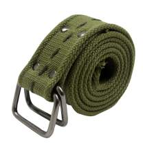 Canvas Belt with D-Ring Buckle Army Green