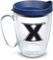 Tervis 1125327 Xavier Musketeers Logo Tumbler with Emblem and Navy Lid 16oz Mug, Clear