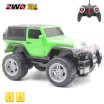 CISAY Rc Cars,6061 Remote Control Car,1/18 Scale 15km/h,2.4Ghz 2WD Land Off-Road,with Car Light and 2 Rechargeable Batteries,Give The Child Best The Gift (Green)