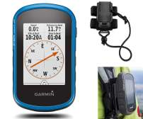 Garmin eTrex Touch 25 Hiking GPS Bundle | with Backpack Tether Mount | Rugged Handheld, 3-axis Compass, Touchscreen Display