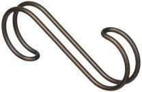 iDesign Classico Over the Rod, Closet Accessory Hook Organizer for Ties, Belts, Handbags - Bronze