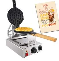 ALDKitchen Bubble Waffle Maker Professional Rotated Nonstick Egg waffle iron machine for Puffle waffles 110V (SPIN MANUAL)