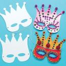 Baker Ross Card Crown, 18cm, White 12 Pack