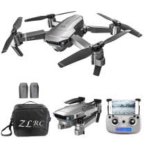 GoolRC SG907 GPS Drone, 5G WiFi FPV Foldable Drone with 1080P HD Front Camera and 720P Optical Flow Positioning Camera, Follow Me, Gesture Photos/Video RC Quadcopter with 2 Batteries and Handbag