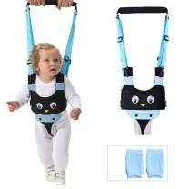 ORANGEHOME Baby Walker Toddler Walking Harness Helper and 2 Pair Knee Pads Adjustable Standing Up and Walking Learning Helper for Toddler 7-24 Month-Blue