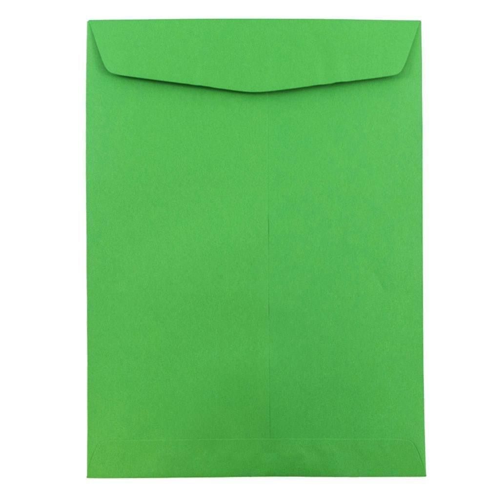 JAM PAPER 9 x 12 Open End Catalog Colored Envelopes - Green Recycled - 50/Pack