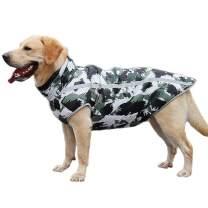 Ovovod Warm Dog Coat Waterproof Reflective Dog Down Jacket Vest for Cold Weather, Back Zipper Closed, Adjustable Collar