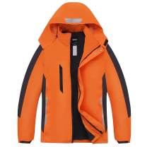 miiooper Men's Waterproof Outdoor Jacket 2020 Spring Windproof Hooded Mountain Fleece Outwear Rain Coat