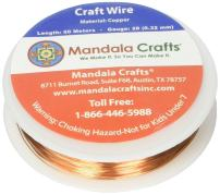 Mandala Crafts Thin Copper Wire for Jewelry Making, Sculpting, Weaving, Hobby, Gem Metal Wrap; Soft and Bendable; 1 Spool (28 Gauge 50M, Bare Copper)