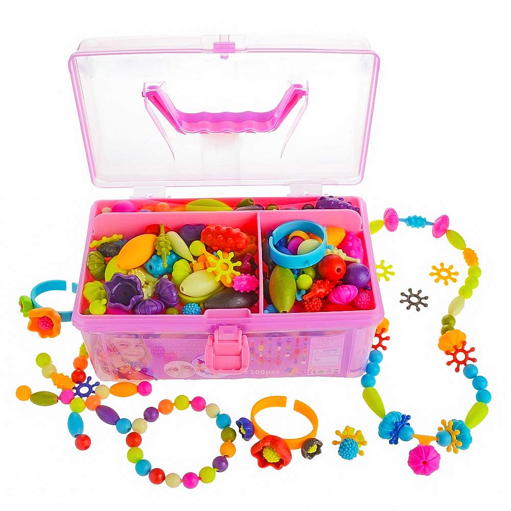 Pop Snap Beads Jewelry Making Kit For Kids Girl Toys 3 4 5 6 7 8 9 Year Old 100