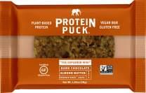Protein Puck Mini Protein Bar | Almond Butter Dark Chocolate | Gluten Free, Vegan, Non GMO, Non-Dairy | Case of 12