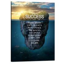"""Motivational Posters Success Wall Art Painting on Canvas Inspirational Entrepreneur Quotes Pictures Prints Artwork Modern Office Decor Living Room Gym Home House Decorations Framed (18""""Wx24""""H)"""