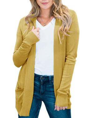 BENANCY Womens Casual Scoop Neck Cuffed Sleeve Blouse Tops with Scarf