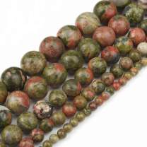 Love Beads Natural Unakite Stone Round Beads for Jewelry Making 15inches 6mm Beads