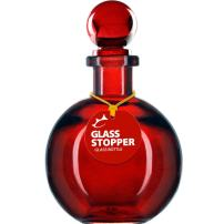 Couronne Company B6544T06 Ball Recycled Glass Bottle w/ Glass Top, 8.5 oz, Red, 1 Piece