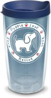 Tervis Puppie Love - Blue Pup Insulated Tumbler with Wrap and Navy Lid, 16oz, Clear