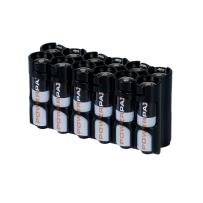 Storacell by Powerpax AA Battery Caddy, Black, Holds 12 Batteries
