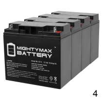 Mighty Max Battery ML18-12 - 12 Volt 18 AH SLA Battery - Pack of 4 Brand Product