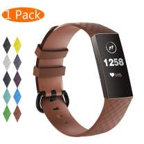 KingAcc Bands for Fitbit Charge 4 and Fitbit Charge 3, Soft Silicone Replacement Wristbands with Buckle Wristband Strap for Women Men Small Large