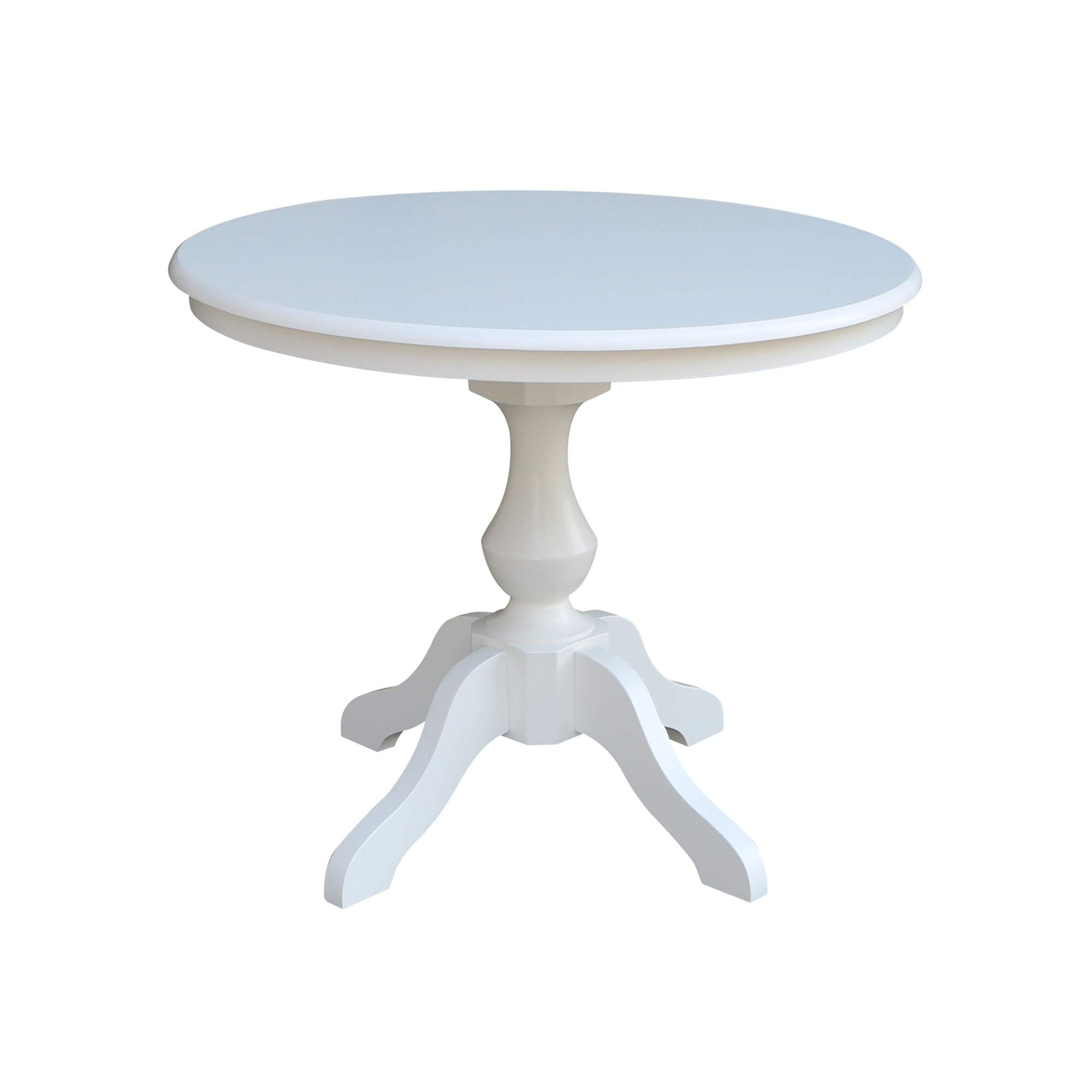 """International Concepts 36"""" Round Top Pedestal Table-28.9"""" H, White"""