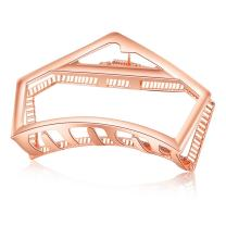 ACCGLORY Hallow Hair Clip Vintage Metal Hair Claw for Women Metal Jaw Clips Clamps (Irregular-Rose Gold)
