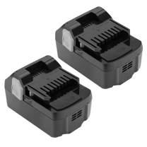 Shentec 2 Pack 4.0Ah 18V Battery Compatible with Hitachi 330139 BSL1815X 339782 BSL1830C BSL1815S BSL1830 330557, 18V Li-ion Slide Style Battery
