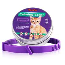 """BINGPET Calming Collar for Cats - 60 Days Effective Adjustable Reduce Anxiety Kitten Collar for Small Cats and Dogs, Natural Calm Collar Up to 15"""""""
